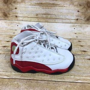 Nike Air Jordan 13 Retro Red White Toddler Size 7C